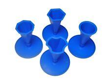 Hormigón/Resina Moldes, Conjunto de 4 formas con bases, UK Made, Craft. S7826