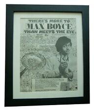 More details for max boyce+all had doctor's papers+poster+ad+original 1975+framed+fast world ship