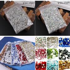 1440pcs SS3-SS20 Crystal Rhinestones Glass Flat-Back Tips Phone Nail Art Supply