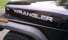 2 light Silver Decal sticker skin for Jeep Wrangler TJ JK bonnet military fender
