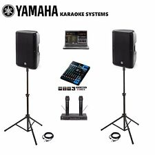 NEW Best Karaoke DJ SYSTEM LAPTOP Professional YAMAHA SPEAKERS DBR10