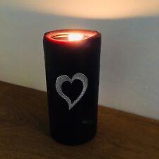 Heart Candle Decor, Handmade UK Modern English Pewter, Heart Candle