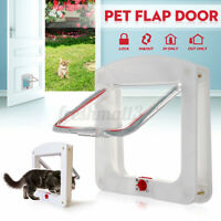 Pet Dog Cat Flap Door 4 Locking Ways Safe Lockable Locking Flap Frame  P □□