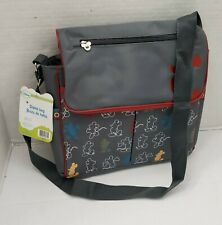 New Disney Mickey Mouse Compact Messenger Baby Diaper Bag Bottle Adjust Pad