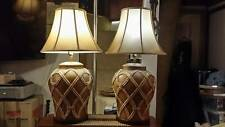 VINTAGE 1976 Fine Art Large Ceramic Lamps