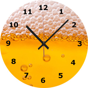 WALL CLOCK PINT BEER 25cm Bar Pub Party Lager Home Furniture Home Decor diy 01