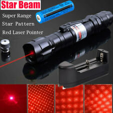 900Miles 650nm Red Laser Pointer Pen Star Cap Bright 18650 Lazer+Battery+Charger