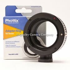 Phottix Lens Mount Adapter Ring - Sony MAF/Sony NEX - NEW