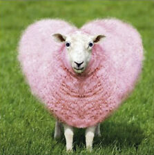 Love Heart Pink Sheep Blank Card 3D Goggly Moving Eyes Funny Greeting Card NEW