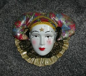 3D Porcelain Ceramic Face Wall Hanging