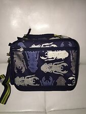 NEW Pottery Barn Kids Mackenzie  Navy Blue Bug Beetle Dual Compartment Lunch Bag