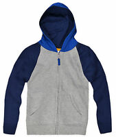 Boys Zip Front Hoodie New Kids Hooded Fleece Lined Jumper Ages 2 3 4 5 & 6 Years