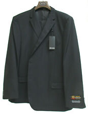 New Men's Black Bolzano Suit Jacket with Pants Standard Fit 56 Long 56 Waist
