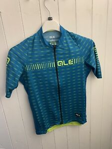 Ale Graphics PRR Short Sleeve Jersey Blue Yellow Fluo Greenroad Size Small S