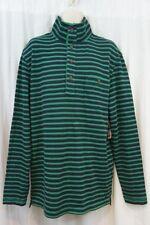 Nautica Slim Fit Mens Sweater Sz XL Green Multi Striped Bosphorus Casual Sweater