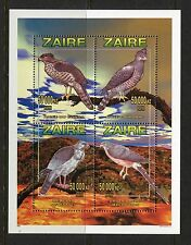 Zaire Congo 1996 Birds of Prey Sheet of 4, NH **