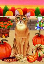 Autumn (Tp) Garden Flag - Abyssinian Cat 620011