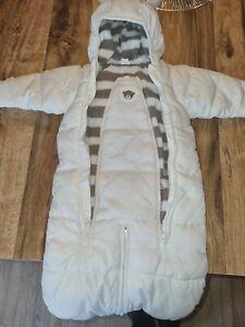 Baby Schneeanzug Wagenanzug Gr 50/56 H&M Weiß