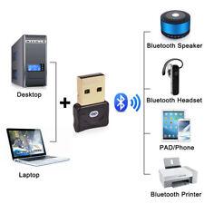 Mini USB CSR Bluetooth 4.0 Dongle Adapter for PC Laptop Windows XP 7 8 10 w/CD