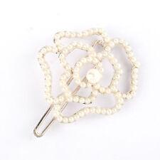 Haarschmuck Kopfschmuck Hair Schmuck Haarklemme Haarspange Perle Creme Blume