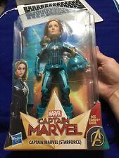 Captain Marvel Starforce Super Hero Doll Action Figure with Helmet Blue