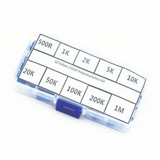 10 value 50pcs 3362P  Trim Pot Trimmer Potentiometer   Resistor 3362 Box Kit