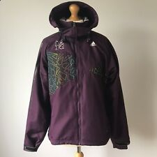 Purple Adidas London 2012 Olympics Tracksuit Top Hooded Jacket 14 Windbreaker