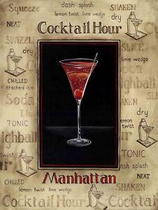 Cocktail Hour, Retro vintage style metal tin sign gift Home Decor Bar Pub