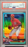 2019 Chrome AQUA REFRACTOR Nats JUAN SOTO RC Card /125 PSA 10 GEM MINT Pop 9