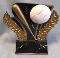 "black gloss finish baseball award resin trophy 6"" tall WMR series"
