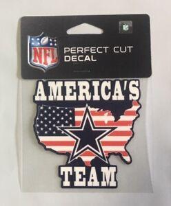 "Dallas Cowboys 4"" x 4"" America's Team Truck Car Window Die Cut Decal New Color"