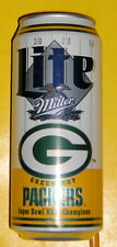 Green Bay Packers Super Bowl XXXI Miller 12 OZ Beer Can Nice Graphics! See!