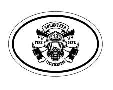 Oval Volunteer Firefighter Vinyl Decal - Fire Department Bumper Sticker