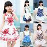Princess Children Kids Girls Floral Butterfly Party Dress Formal Sundress Summer