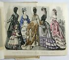 Antique 1872 GODEY'S LADIES BOOK Victorian Magazine HAND COLORED FASHION PLATE