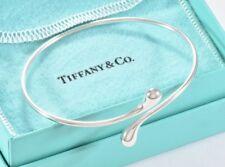 Tiffany & Co Silver Elsa Peretti Teardrop Bangle Bracelet w/ Pouch Tear Drop