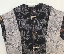 MIMA Designs Lux S M L XL OOAK Art Patchwork Vest Open Tabard Jacket Lagenlook