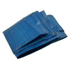 More details for 8 x 12 foot tarpaulin blue sheet - protective ground car furniture pool cover