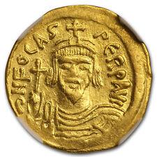 Byzantine Gold Emperor Phocas (602-610 Ad) Xf Ngc - Sku#173446