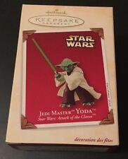 2003 Hallmark Keepsake Jedi Master Yoda  Star Wars Attack Of The Clones