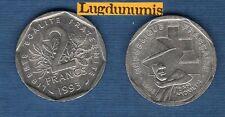V République 1959 - / 2 Francs 1993 Jean Moulin TB TTB Commémorative