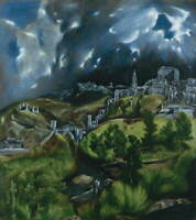 El Greco View Of Toledo Poster Reproduction Paintings Giclee Canvas Print