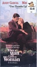 When A Man Loves A Woman (VHS, 1994) Andy Garcia, Meg Ryan & Ellen Burstyn [LN].
