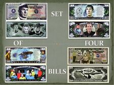 Leonard Nimoy Star Trek Collection Million Dollar Bills (Set of 4) Novelty Money
