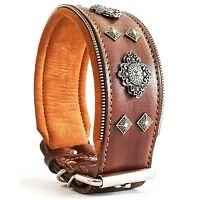 Bestia Aztec XXL studded dog collar. Made in Europe. 2.5 inch wide!