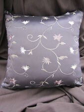 Gorgeous Nettex LAFAYETTE  Aubergine  Embroidered Floral Cushion Cover SALE