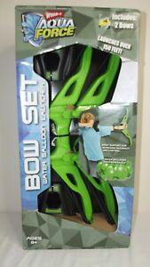 Wham-O Aqua Force Bow Set - Water Balloon Launcher 2 Bows NEW