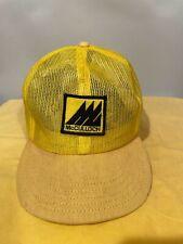 Vintage McCulloch Chainsaws Patch Hat Snap back Adj mesh trucker cap stilh rare