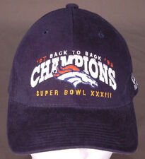 Vtg Denver Broncos Hat/Cap-Super Bowl XXXIII-Embroidered-Snapback-NFL-Football..