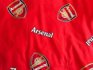 Arsenal Football Club Official Red Fabric FQ 56x46cm Badge Detail NEW